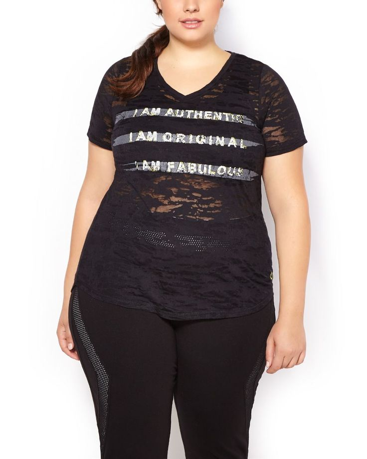 Set The Pace In This Stylish Plus Size Activewear T Shirt