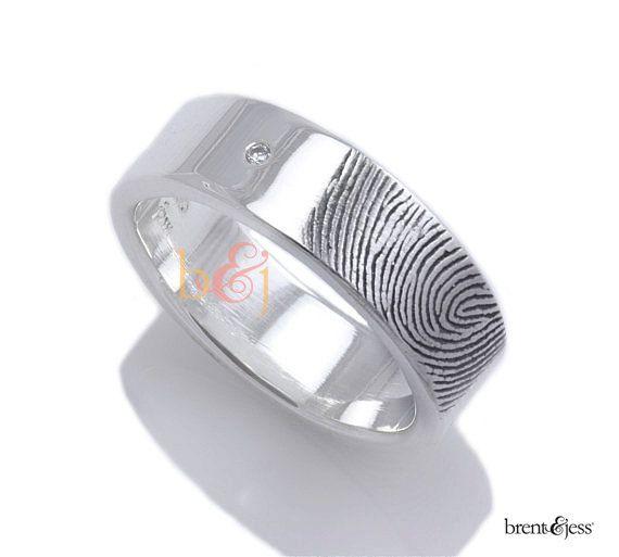 Amazing Best Fingerprint wedding bands ideas on Pinterest Fingerprint ink Finger meaning and Wedding ring