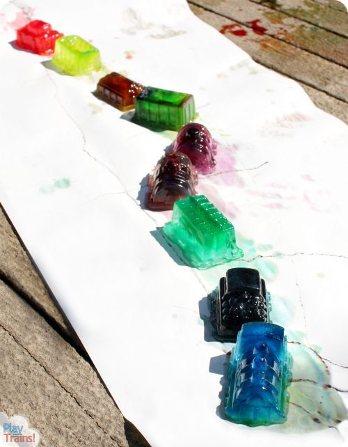 """Extend the reading experience with 4 fun crafts based on and inspired by Donald Crews' """"Freight Train."""""""