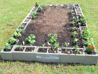 Raised bed for vegetable garden