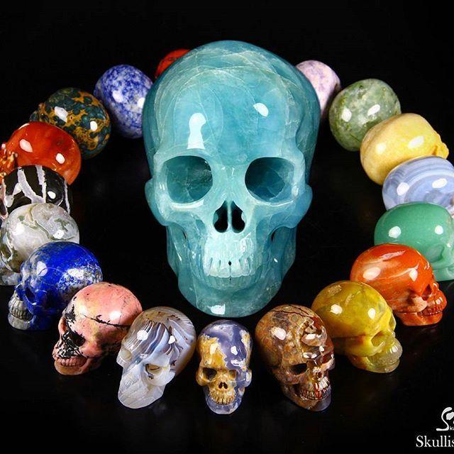 "Nice Gemstones Carved Crystal Skulls. Search for ""gemstone"" at www.Skullis.com to see all gemstone items. Skullis, Creator of the Finest Crystal & Gemstone Skulls. #crystals #crystalskull #crystalskulls #skullis #crystalhealing #healing #healingcrystal #healingcrystals #healingstones #sculpture #skullpture #skull #skullart #lapidary #stonecarving #stonesculpture #carving #crystal #gemstone #mineral #gems #fineart #picoftheday #photooftheday #fun #cool"