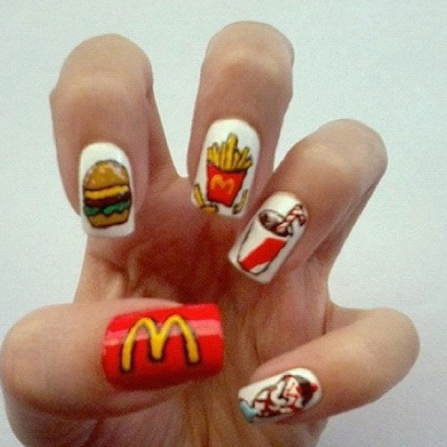 365 Days Of Nail Art March 2014: 1000+ Images About Mcdonalds Nails & Nail Art Designs By
