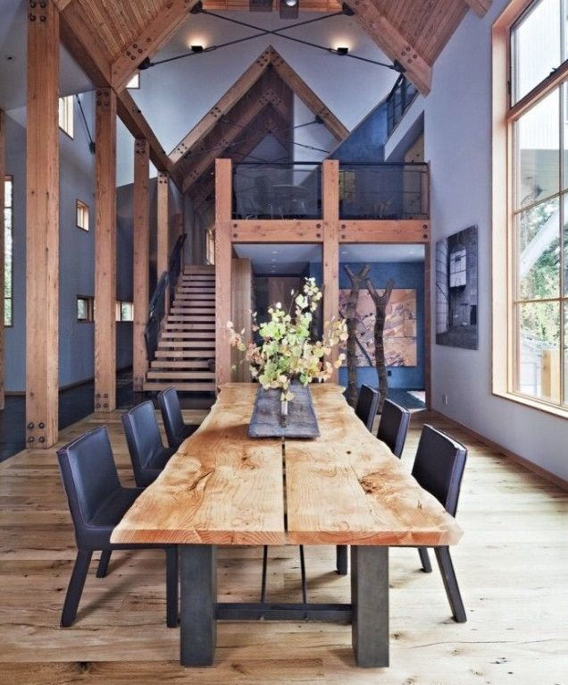 mesa de madeira rustica madeira bruta natural ferro