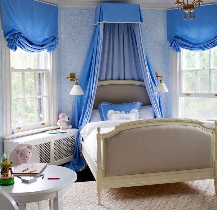 Blue in a little girls room just darling beautiful for Beautiful children s bedrooms