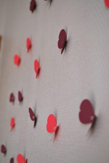 envolée de papillon sur le mur décoration chambre Bébé (3)