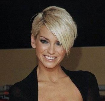 Sarah Harding latest short hairstyle