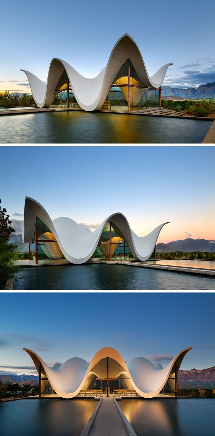 The Sculptural Design Of This Chapel Emulates The Mountains That Surround It