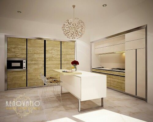Sleek and clean kitchen that suit to modern home