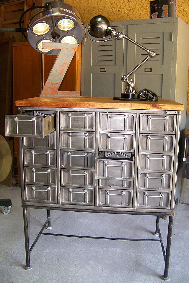 Interior design | decoration | home decor | l'atelier deco industriel nimes meuble metal 006