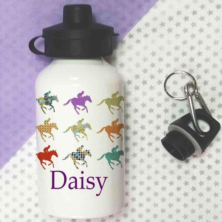Personalised Water bottle,School Lunch Bottle,Girls Bottle,HorsesGift #TigerLilyPrints