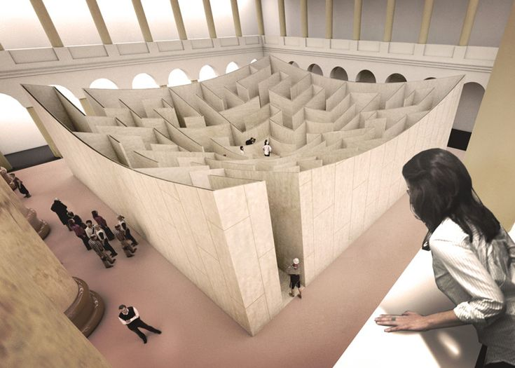 Bjarke Ingels unveils maze for Washington's National Building Museum