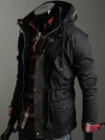 Comfy, warm, stylish and sexy. Great winter jacket for a guy