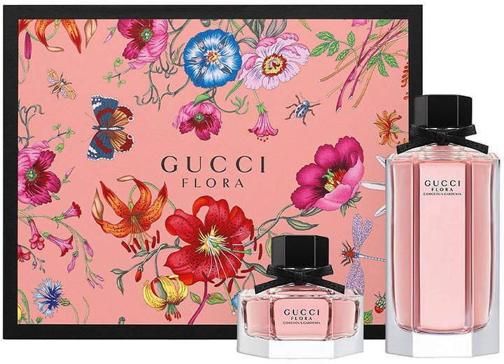 Gucci Flora Gorgeous Gardenia Eau De Toilette Gift Set Flora Gucci Floral Fragrance Perfume Packaging