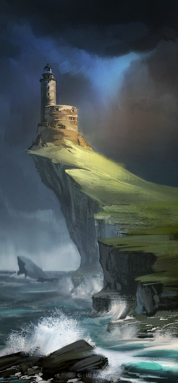 Old lighthouse, Ekaterina Yakovleva on ArtStation at https://www.artstation.com/artwork/old-lighthouse