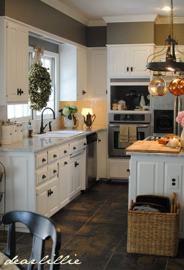 Kitchen White Cabinets Gray Walls. Wall Color: Benjamin Moore Chelsea Gray,Cabinet Color: Benjamin Moore Simply White