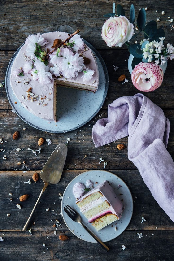 our food stories: glutenfree rhubarb-raspberry cake & a moodboard for farrow & ball