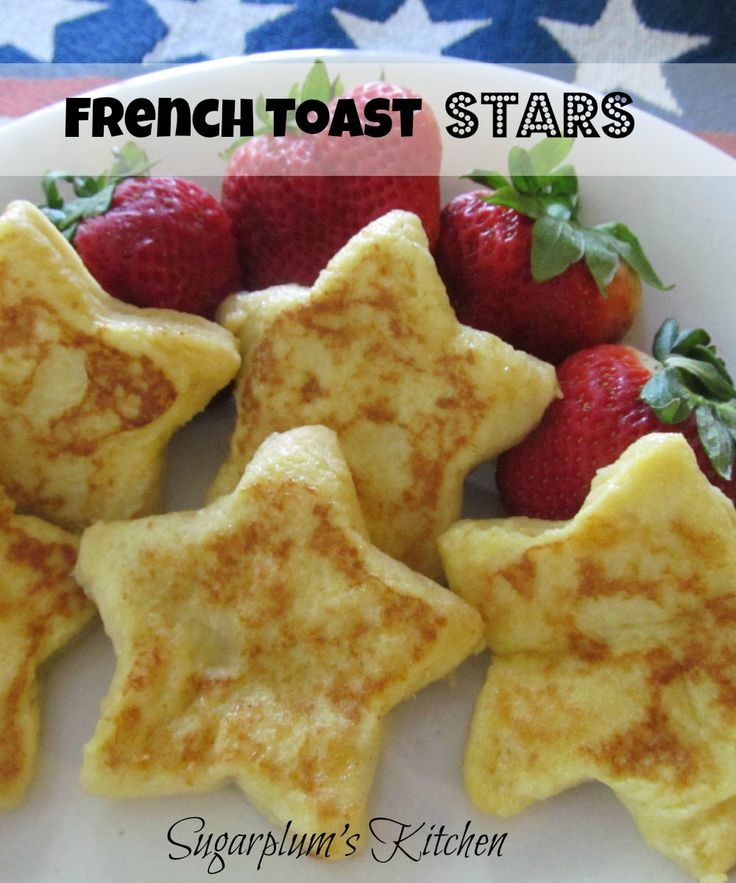 These adorable french toast shaped stars are just perfect for an Independence Day breakfast or brunch!  They are pretty simple to make to...