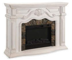 """62"""" Grand White Electric Fireplace from Big Lots $599.99"""