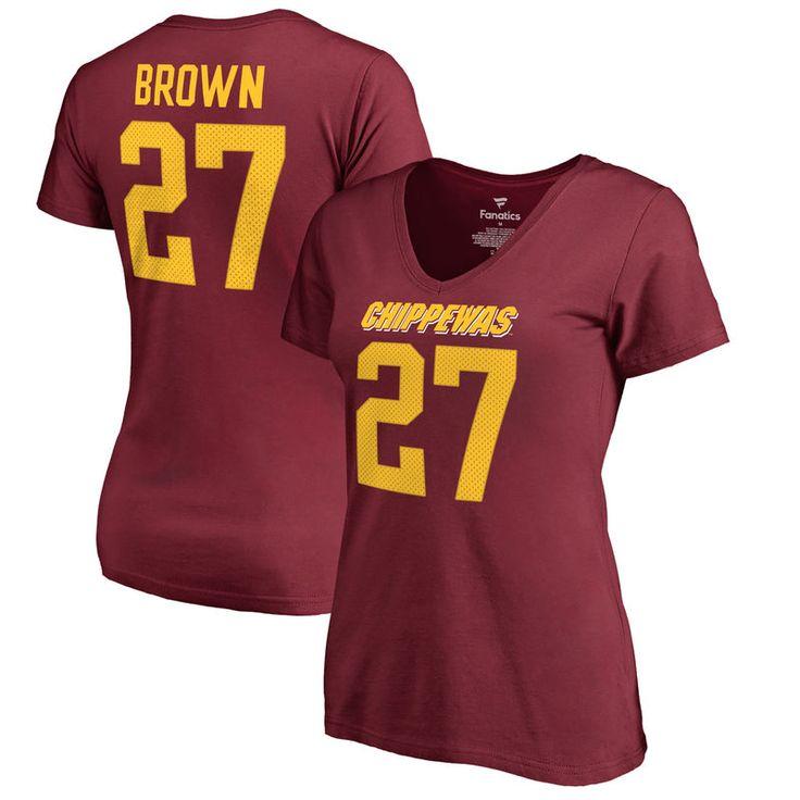 Antonio Brown Cent. Michigan Chippewas Fanatics Branded Women's College Legends T-Shirt - Maroon