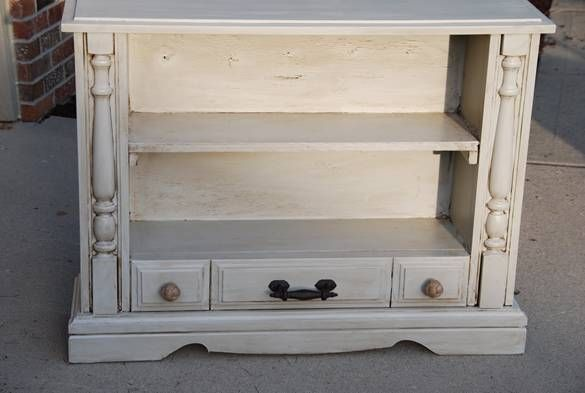 Upcycle that ugly old tv into a beautiful bookshelf!