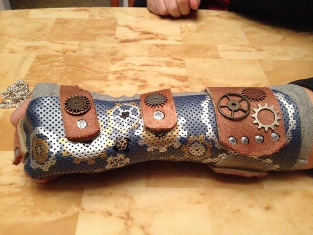 steampunk cast   Broken Arm Cast