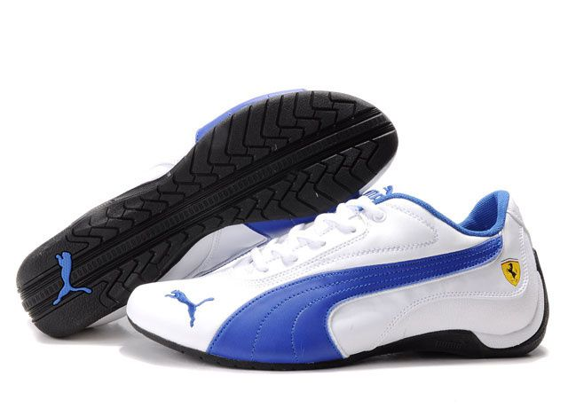 Mens Puma Ferrari Shoes (My school colors blue & white)