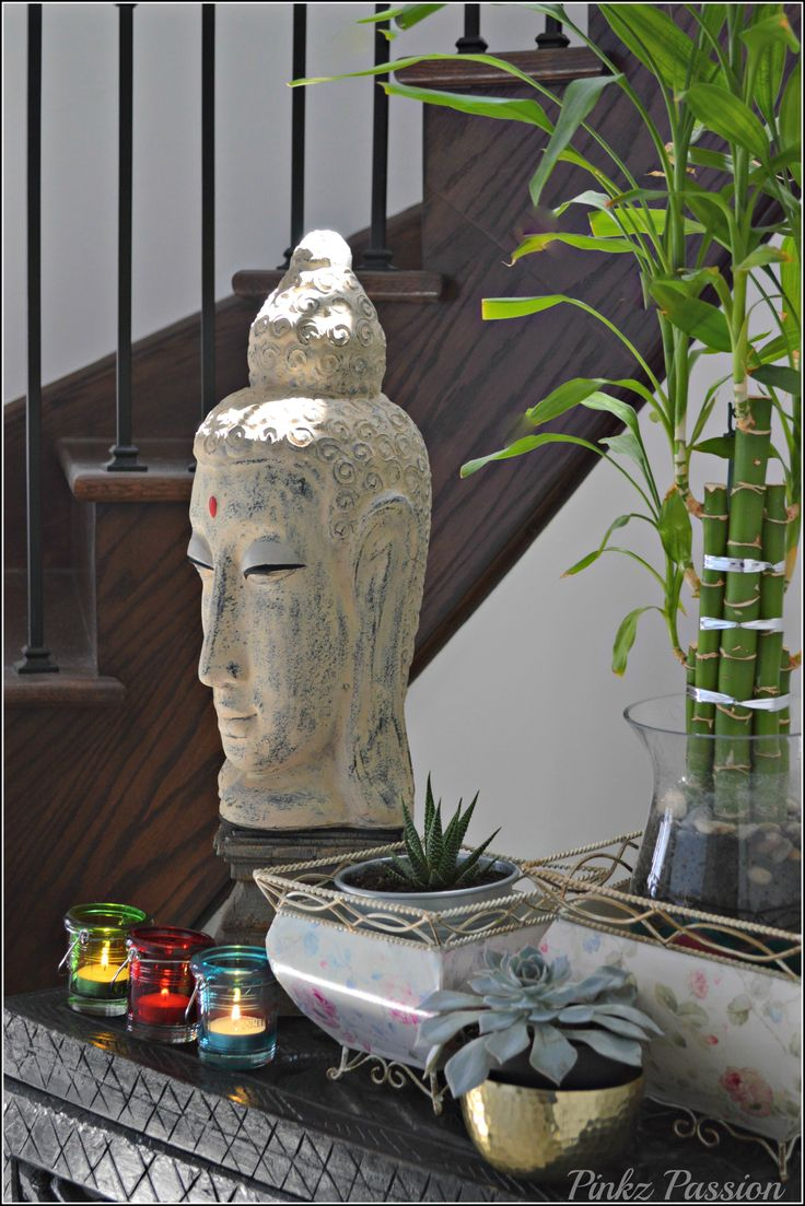 Buddha Décor Indoor Plants Calming Zen Indian Inspired