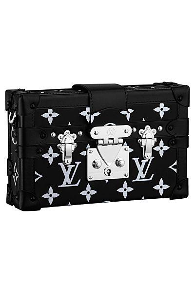 3ff660c5a53b Louis Vuitton Black White Monogram Canvas Petite Malle Bag -