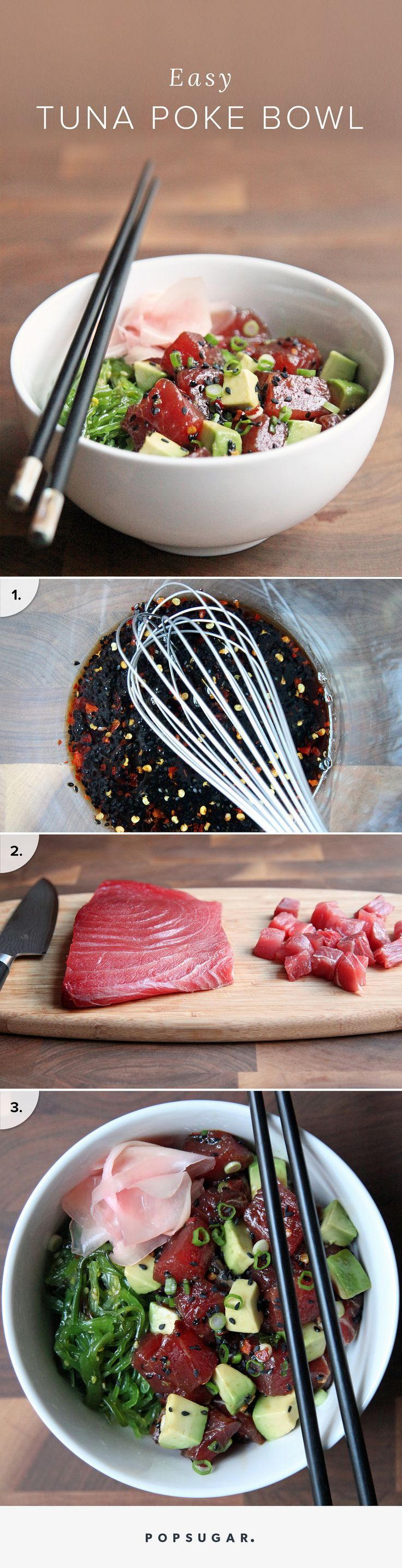 A traditional Hawaiian seafood preparation — take bite-size pieces of raw fish like ahi tuna, salmon, or octopus, marinade it in soy sauce and in essence you have poke (pronounced POH-keh).