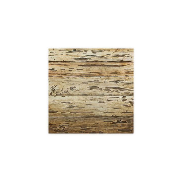 "6""W x 6""H Pecky Cypress Endurathane Faux Wood Siding Panel Sample, Weathered White - 19.9900"