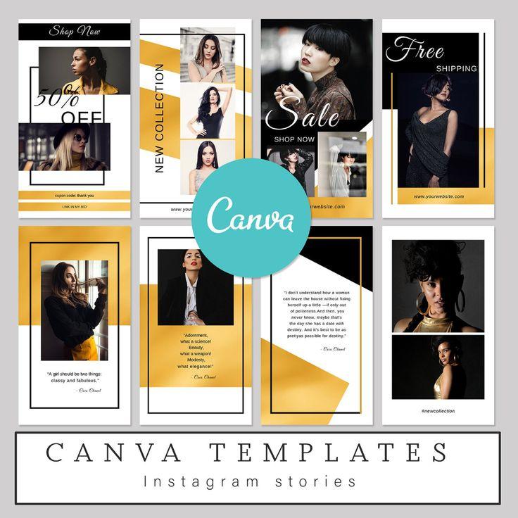 Editable Canva Template, Instagram Stories Canva, Social