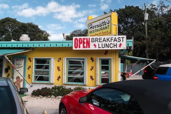 Best Breakfast in Key Largo - Harriett's.  Florida Keys restaurant.