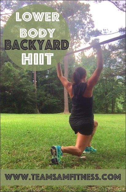 Afraid of going to the gym? Try this Lower Body Backyard HIIT you can do anywhere! #fitover40 TeamSam Fitness