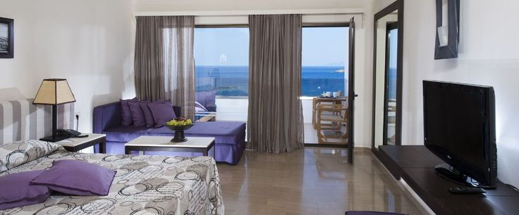 Seaview Room with spectacular view of the sea at Sensimar Minos Palace