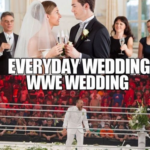 All is not fair in love and weddings. #WWE