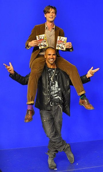 Shemar and Matthew Goofing Around