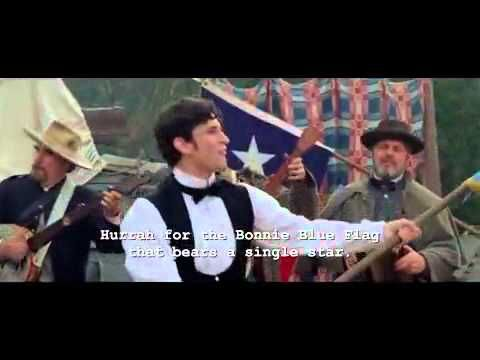 The Bonnie Blue Flag - with lyrics - popular Civil War song from the movie:  Gods and Generals - HQ