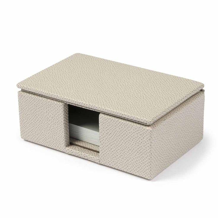 Visitenkartenbox Leder Riso cream