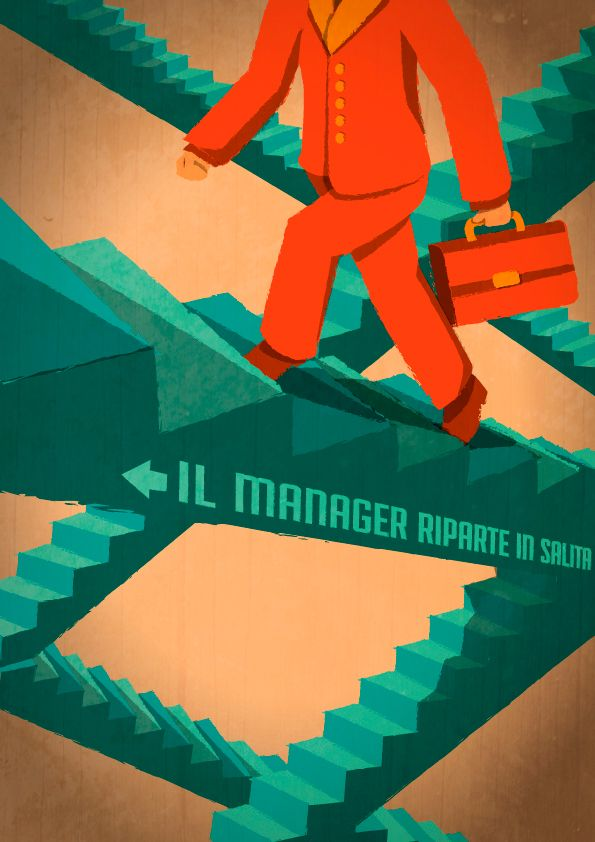 Illustrazione // Uomo&Manager #21 on Behance  Francesca Ceccarelli