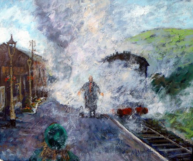 Timmy Mallett - Painting - Railway Children - Daddy! My Daddy!!