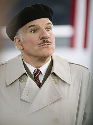 Steve Martin, The Pink Panther (Movie - 2006)   True, Steve Martin 's over-the-top French accent increased the funny factor of the flawed 2006 remake, but we can't let him off too easy, as