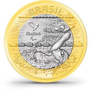 Natação Paralímpica Moedas - Rio 2016