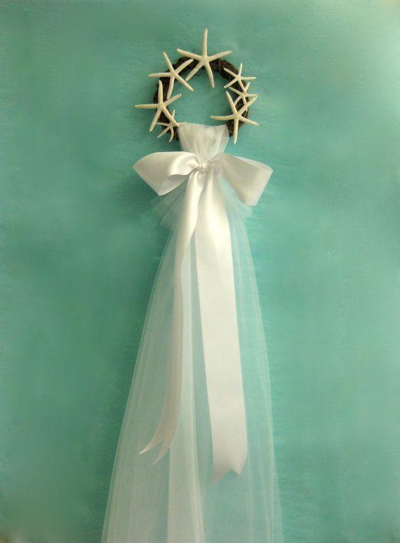 Wedding Decor  Beach Bridal Veil for Display by SeashellCollection, $30.00