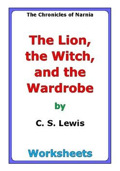 """This is a 52-page set of worksheets for the story """"The Lion, the Witch, and the Wardrobe"""" by C. S. Lewis. This also includes a 4-page story test. For each set of two chapters (C1-C2, C3-C4, etc...), there are two worksheets: * comprehension questions * vocabulary and story analysis"""