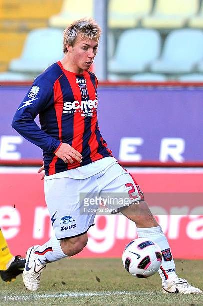 Alessandro Crescenzi of Crotone in action during the Serie B match between Modena FC and FC Crotone at Alberto Braglia Stadium on February 5 2011 in...