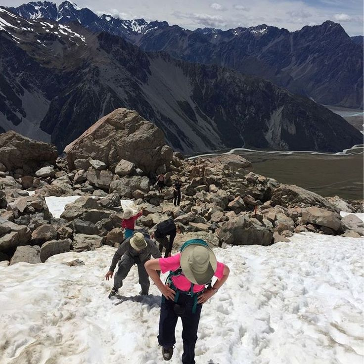 Rambling through the snow in Mt Cook National Park