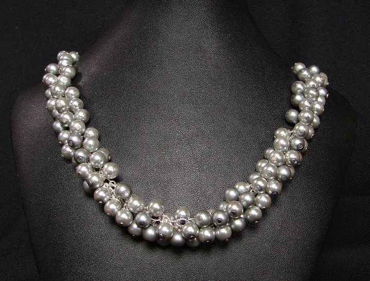 Glass pearl necklace by my wife