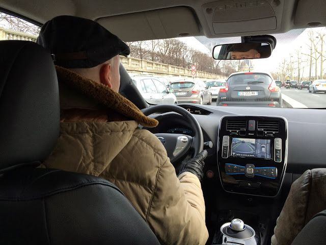 My E-Life Now !: New Nissan LEAF test drive in Paris - Day 2