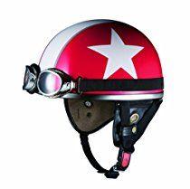 オージーケーカブト(OGK KABUTO)バイクヘルメット ハーフ PF-5 レッドスター (サイズ:FREE)