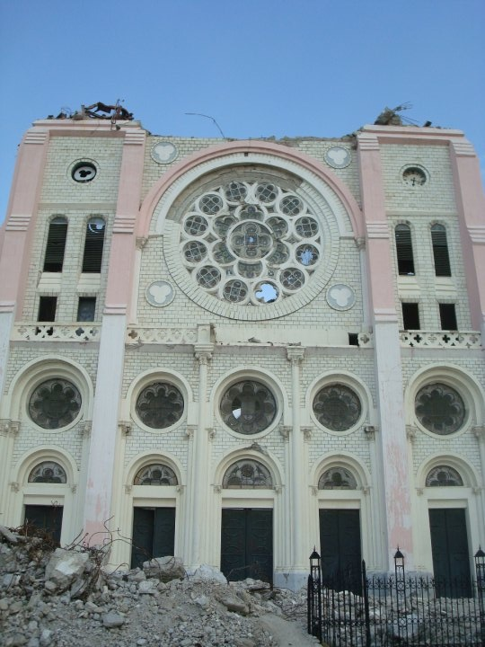 The National Cathedral in Port au Prince Haiti one month after the earthquake. (photo taken by me)